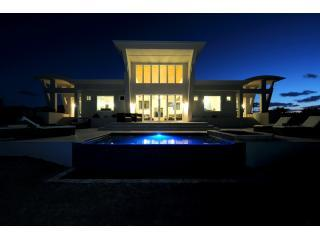 Villa Ext Night sm - Stunning Contemporary Beach Villa w/Private Pool - Governor's Harbour - rentals