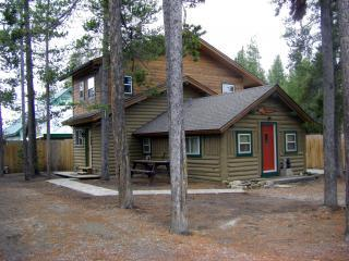 Side view of cabin - Whiskey Springs Cabin...Cozy log cabin, in town! - West Yellowstone - rentals