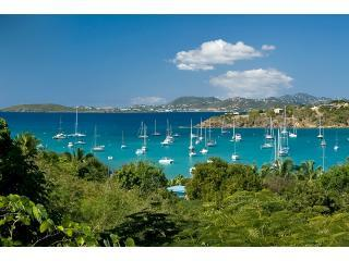 View overlooking Great Cruz Bay towards St Thomas - Idyllic Villa Great Cruz Bay St John USVI - Great Cruz Bay - rentals