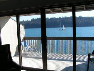 Water view from living room, kitchen and two bedrooms - Puget Sound Waterfront Condo With Spectacular View - Port Ludlow - rentals
