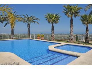 The lovely communal pool - with a view! - Apartment Las Mimosas, AIR-CON, jacuzzi, open view - Pedreguer - rentals