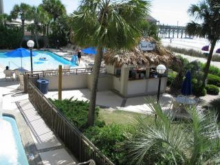 Tropical Paradise Beach/Pool Bar and main outdoor pool, beach path and childrens wading pool - Holiday Inn at the Pavilion Condo~5 Pools~Pool Bar - Myrtle Beach - rentals