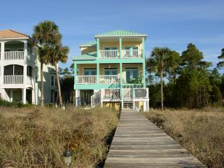 Gulf Front Cape San Blas- Two Palms Villa-Hot Tub - Port Saint Joe vacation rentals