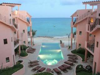 view from balcony at dusk - Luna Encantada H-3; 2 BR beachfront penthouse with terrace - Playa del Carmen - rentals