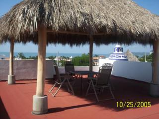 Roof Top Palapa With Great Views of the Ocean and Mountains - Top Floor-Great Ocean/Mountain Views in Bucerias! - Bucerias - rentals