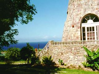 Historic mill with walk- out terrace overlooking the ocean. KL VER - Saint Kitts and Nevis vacation rentals