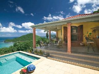 West Indian style villa at the end of a neighborhood road. MAT TAR - Tortola vacation rentals