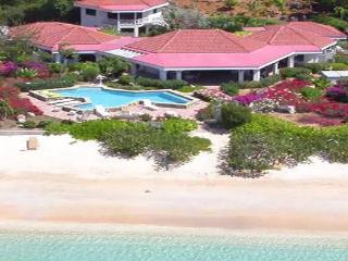 On the edge of Mahoe Bay, the white sand and aqua sea are literally 15 feet from this villa's private pool. VG SAN - Mahoe Bay vacation rentals