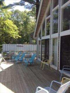 Deck overlooking lake - East Falmouth Vacation Rental (94470) - East Falmouth - rentals