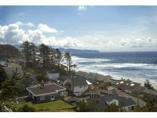 view from tree deck - KNOTTY PINE OCEAN VIEW CABIN- STEPS TO THE BEACH! - Oceanside - rentals