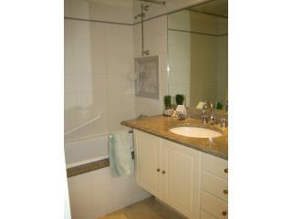 marble bathroom with bath & shower - ILE SAINT LOUIS  large one bedroom apt. w/elevator - Paris - rentals