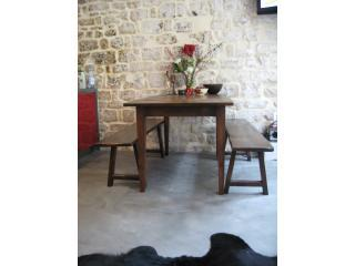 6 seat dining table in kitchen/living area - Stylish and unique, right in the centre of Paris. - 2nd Arrondissement Bourse - rentals