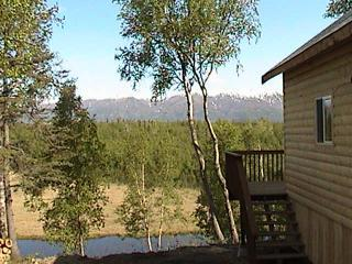 """Gorgeous mountain views at our Cottonwood Creek location - """"Alaska Creekside Cabins"""" Luxury waterfront suites - Wasilla - rentals"""