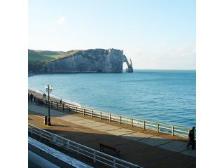 Etretat Beach and the famous \