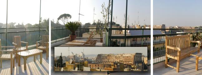 Roof garden with stunning view on the centre of Rome - Big Colosseum penthouse with roof garden over Rome - Rome - rentals