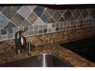 Kitchen--gorgeous. Right, real solid granite in a vacation rental. Great deal. - East Beach, 6 free bikes, 4 queens, 2 baths, best deal! - Saint Simons Island - rentals
