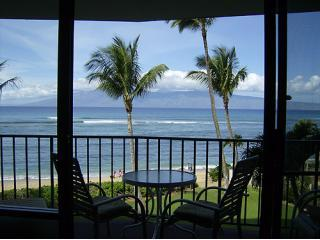 Amazing view from the condo and lanai - Valley Isle Resort  306 Ocean front - Kahana - rentals