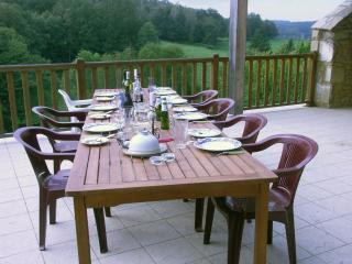 dining on the terrasse - Limousin house  in  tranquil countryside - Bessines-sur-Gartempe - rentals
