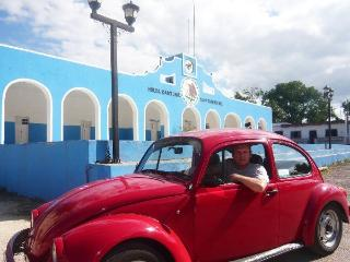 Me and my Vw Bug on Yucatan Tour - Matthias Doehling