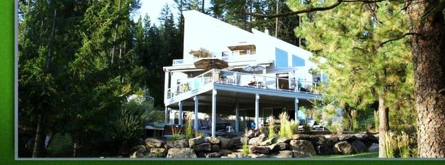 View of House from Lake - Luxury Rockford Bay Waterfront (north side of bay) - Coeur d'Alene - rentals