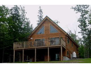 Log Chalet with wrap around deck - Beautiful Bar Harbor Waterfront Log Chalet, Acadia - Bar Harbor - rentals