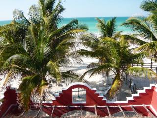 Beachfront Penthouse with large Terrace - El Cuyo vacation rentals