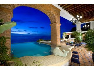 Expansive ocean view from private infinity pool - Must View This One! Breathtaking View~4 BD/4 BA Conchas Chinas - Puerto Vallarta - rentals