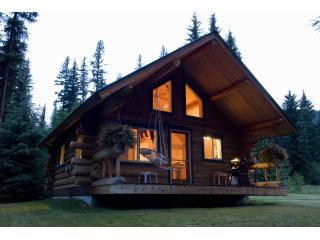 cabin at dusk - Yaak Valley Log Cabins - Troy - rentals