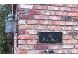 Identifying placard - La Petit Maison on Galveston Bay - Kemah - rentals