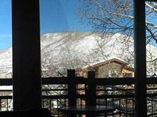 View of Red Mountain from Living Room in Winter - Lift One #302  Location and Daily Maid service - Aspen - rentals
