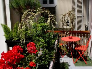 Flowered courtyard balcony by the Eiffel tower - 4th Arrondissement Hôtel-de-Ville vacation rentals