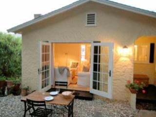 French Doors of Living Room open to Terrace - Little Jewel Box, Chic Cottage,  #1 Trip Advisor - Monterey - rentals