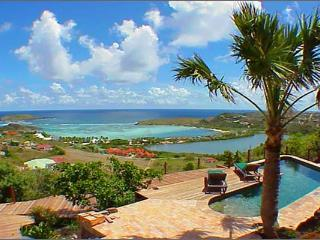 Attractive South American style villa with views over Grand de Sac WV KDY - Marigot vacation rentals