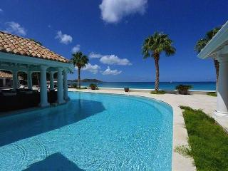 Luxury 6 bedroom Grand Case (French side) villa. Beachfront, gorgeous sunsets - Anguilla vacation rentals