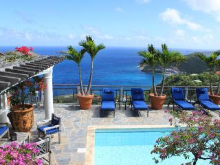 Perched on a seaside bluff, this villa will charm you with a ravishing seascape. WV KER - Colombier vacation rentals