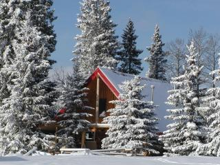 Log cabin rentals in the foothills of Alberta - Black Diamond vacation rentals
