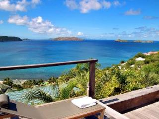 Magical Villa Bali offers a covered terrace with pool and amazing views - Saint Barthelemy vacation rentals