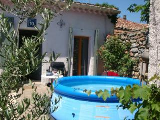 Cottage with sunny private garden and plunge pool - Pouzolles vacation rentals