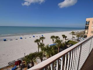 Sand Castle II 2505 Gulf Front 3 bedroom 2 bath  - Pool, Spa, BBQ & WiFi - Saint Petersburg vacation rentals