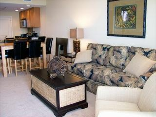 Living Area - Sterling Breeze-DIRECTLY on the beach! - Panama City Beach - rentals