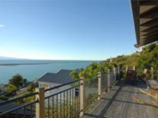 Front Balcony  From Master Bedroom - Nelson New Zealand Abel Tasman Villa. - Nelson - rentals
