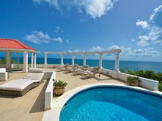 TERRASSE DE MER...Gorgeous villa, breathtaking view of Baie Rogue Beach. - Baie Rouge vacation rentals