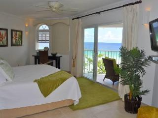 Beach front penthouse apartment at Sapphire Beach - Saint Lawrence Gap vacation rentals