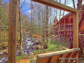 Cabin on the Creek!  4 Bedroom Luxury Cabin with outdoor fireplace! - Gatlinburg vacation rentals