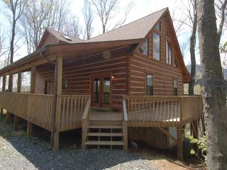 Beautiful Mountain Log Cabin with Stone Fireplace - West Jefferson vacation rentals