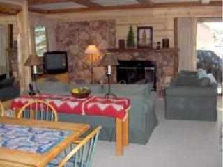 Living Room with  Wood burning Fireplace - The Perfect Sun Valley (Elkhorn) Condo - Sun Valley - rentals