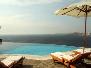 Nothing short of a dream- set above the bay at Agios Lazaros. LIV MOR - Mykonos vacation rentals