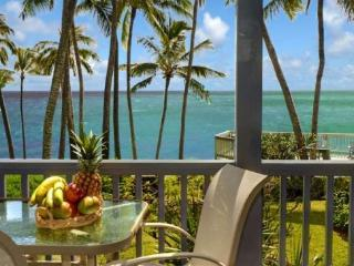 Free Car* with Poipu Palms 102 - Exquisitely decorated oceanfront 2 bedroom/2 bath condo in a small complex - Poipu vacation rentals