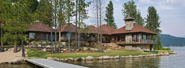 360\' Private waterfront, dock & beach.  The Point at Sandpoint - Gorgeous, 360' Private Waterfront, Now Sleeps 16! - Sandpoint - rentals