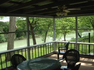 View of Guadalupe River from Guadalupe Haus sleeping 16 - Guadalupe River front houses  New Braunfels - New Braunfels - rentals